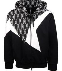 neil barrett monogram bauhaus modernist hoodie