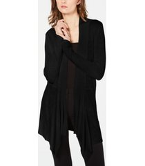 inc ribbed-knit draped cardigan, created for macy's