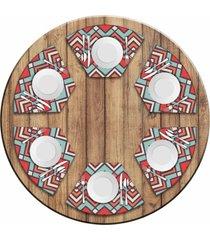 jogo americano love decor para mesa redonda wevans abstract color kit com 6 pçs