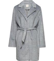 barbara wool wollen jas lange jas grijs line of oslo
