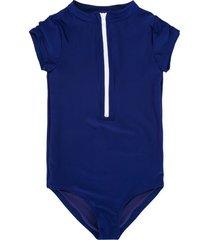 duskii girl short sleeve swimsuit - blue