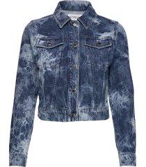 acid wash denim jacket jeansjacka denimjacka blå ivyrevel