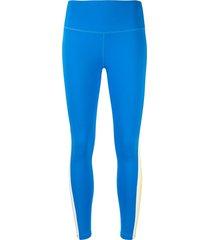 splits 59 harper 7/8 reflective stripe leggings - blue