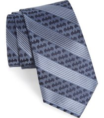 men's cufflinks, inc. 'batman' stripe silk tie, size regular - blue