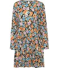 river, 1089 viscose jersey kort klänning multi/mönstrad stine goya