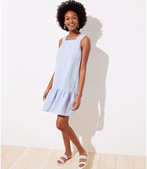 loft chambray square neck flounce dress