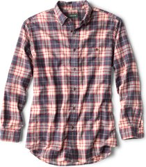 slub long-sleeved plaid shirt