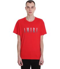 amiri t-shirt in red cotton