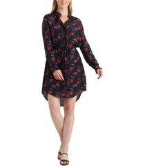 lucky brand mackenzie floral shirt dress