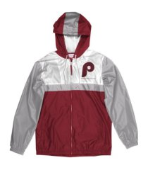 mitchell & ness philadelphia phillies men's victory windbreaker jacket