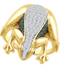 diamond frog statement ring (1/2 ct. t.w.) in gold over sterling silver