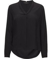 liva top blouse lange mouwen zwart bruuns bazaar