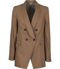 brunello cucinelli comfort linen and cotton drill blazer with monili