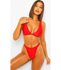 essentials driehoek bikini top met volle cup, rood