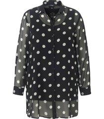 2-in-1-blouse met lange mouwen van frapp zwart