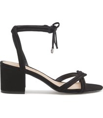 veronica sandal - 8 black nubuck