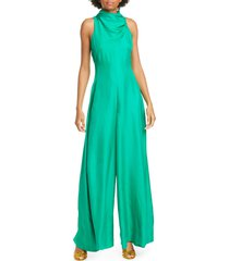 women's amur patrice wide leg silk jumpsuit