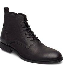 biabyron leather lace up boot snörade stövlar svart bianco