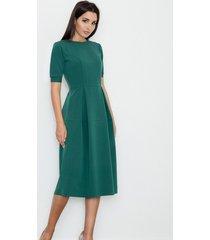 sukienka midi z krótkim rękawem