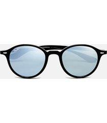 ray-ban round classic sunglasses 49mm - black