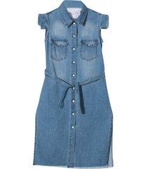gaelle bonheur denim dress with buttons