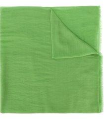holland & holland fine knit shawl - green