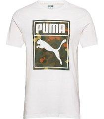 classics graphics logo tee t-shirts short-sleeved vit puma