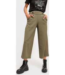 pantalón jacqueline de yong verde - calce holgado