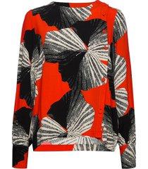 slfkairi ls shirt b blouse lange mouwen multi/patroon selected femme