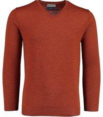 bos bright blue aron v-neck pullover 20305ar21bo/861 rust