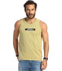 camiseta vlcs regata gola redonda amarela
