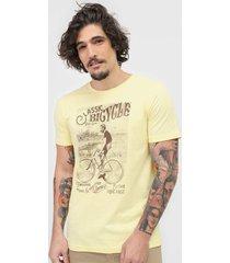 camiseta polo wear classic bicycle amarela