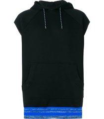 diesel black gold sleeveless hoodie