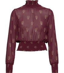 smoking blouse blus långärmad röd ivy & oak