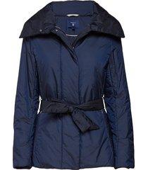 o1. padded belted jacket gevoerd jack blauw gant