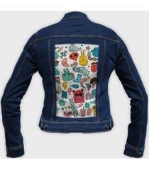kurtka jeansowa damska bazgroły