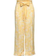 pretty printed pants wijde broek geel odd molly