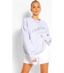 gebleekte oversized california sweater, lichtblauw