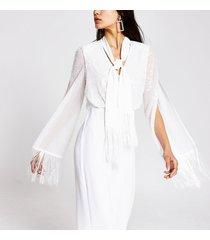 river island womens white tassel trim jumpsuit