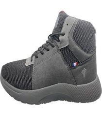 zapatillas country rock gris oscuro michelin footwear