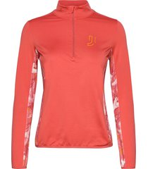 feather fleece sweat-shirts & hoodies fleeces & midlayers röd johaug