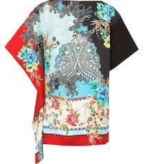 shirt met diepgetint dessin van laura biagiotti roma multicolour