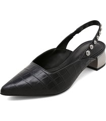 slipper negro-plateado loucos&santos
