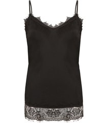 romance lace top black