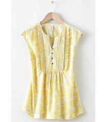 camicetta a maniche corte con spalle scese (giallo) - rainbow