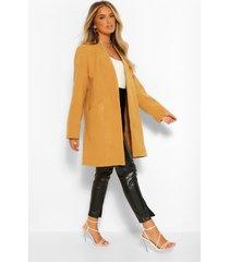 lichte nepwollen jas, camel