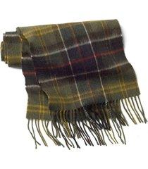barbour merino/cashmere tartan scarf / barbour merino/cashmere tartan scarf, olive
