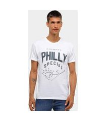 camiseta basic as philly special map masculina