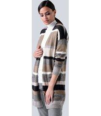 vest alba moda grijs::taupe