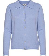 objmirna l/s knit cardigan a tc2 stickad tröja cardigan blå object